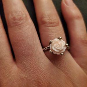 Pandora pink shell ring